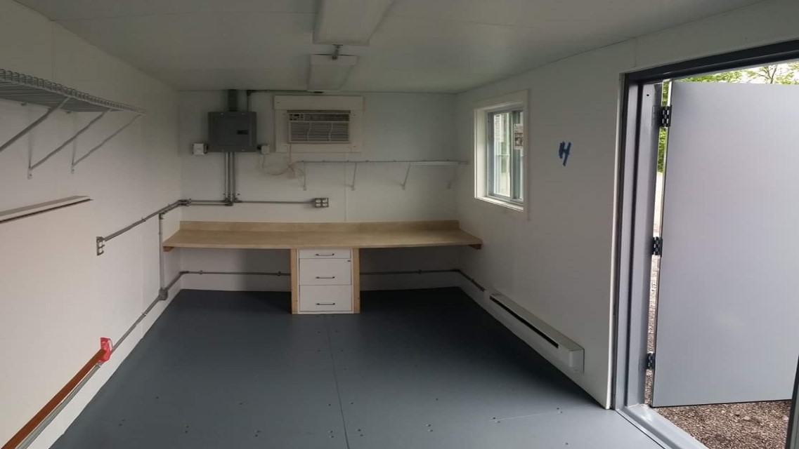 Inside of Custom Storage Container