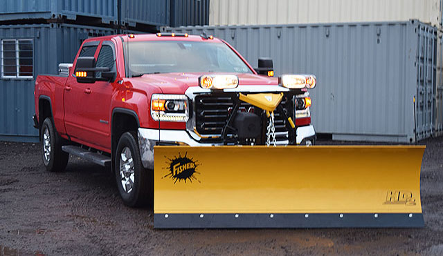 fisher plow being tested
