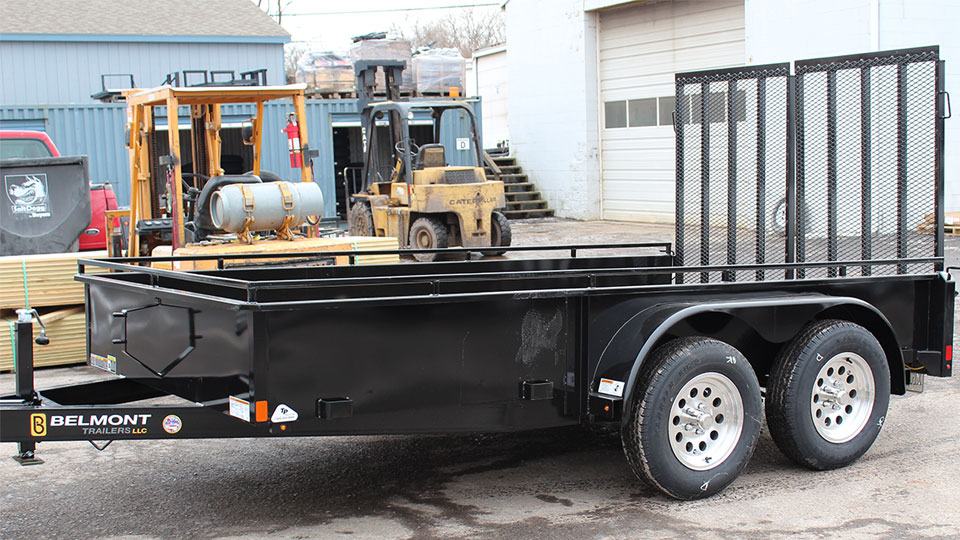Open cargo trailer for equipment