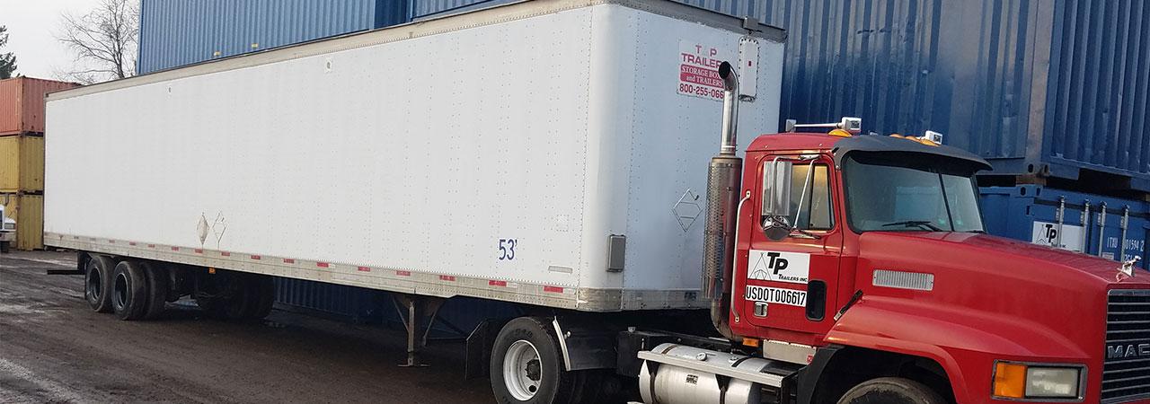 late model storage trailer