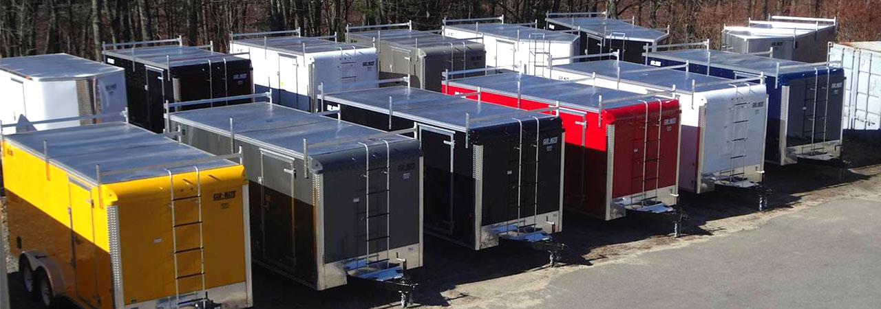 contractor trailers on lot