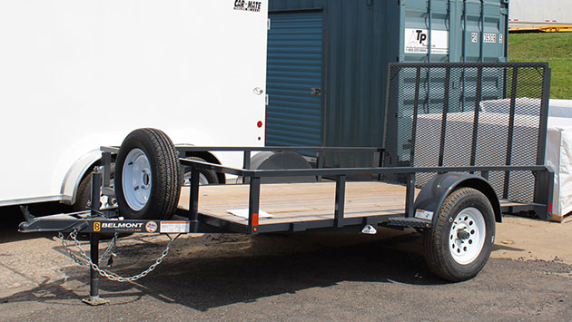 utility trailer used for motorcycle transport