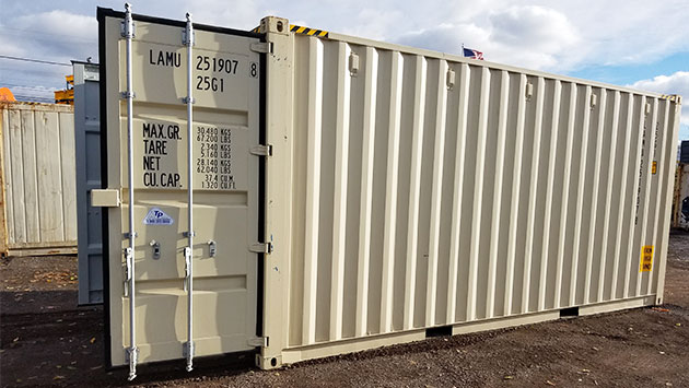 storage container with easy open doors