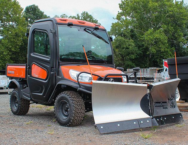 kubota utv 1100 with plow