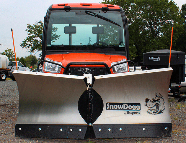 kubota utv 1100 with snowdogg v-plow