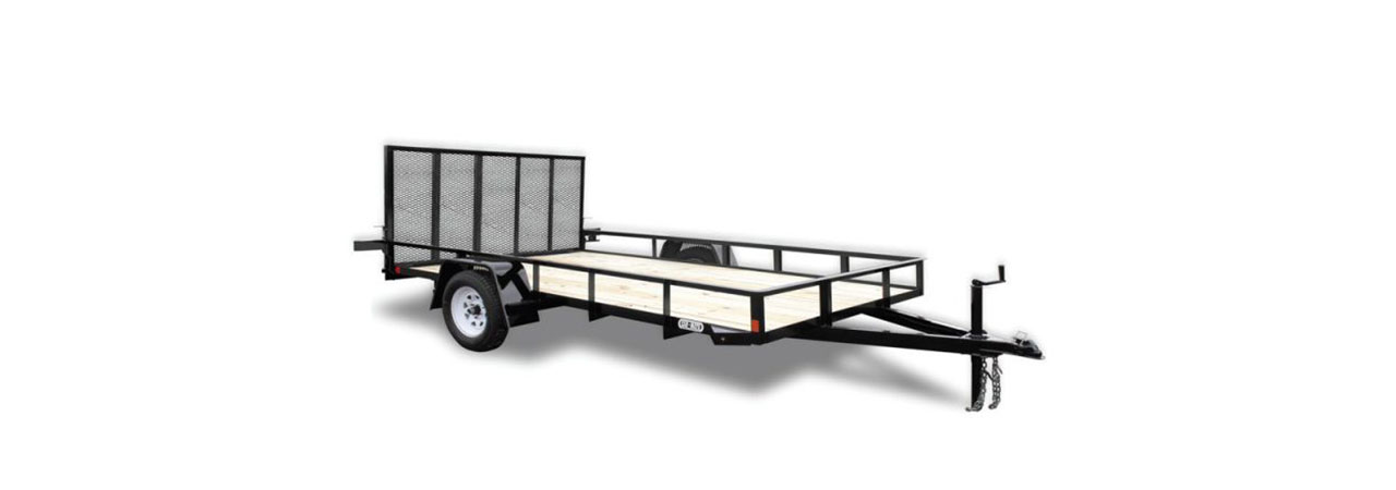 open landscaping trailer sizes