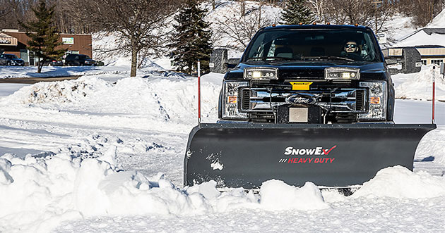how to plow a parking lot