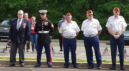 veterans at annual memorial day remembrance