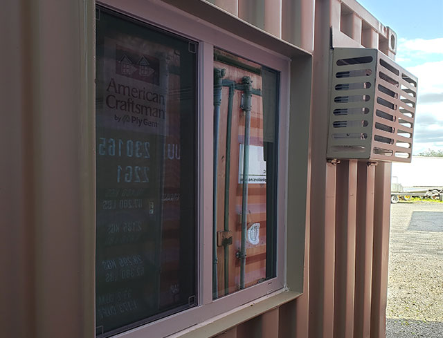 custom shipping container with windows