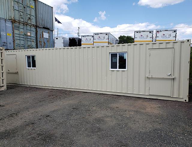 custom storage container with man door