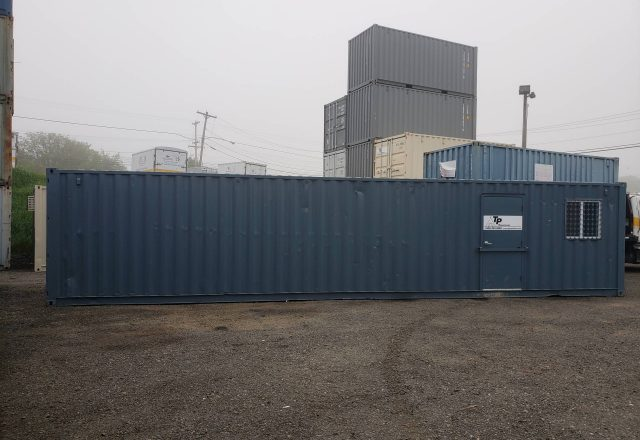 Combination office container and storage