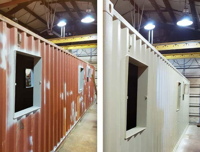 storage container with custom paint