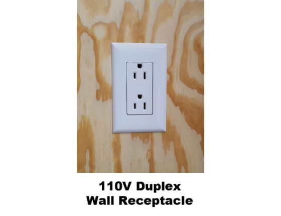 mobile medical duplex wall receptacle