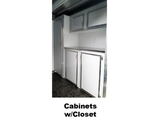 disaster response trailer with cabinets