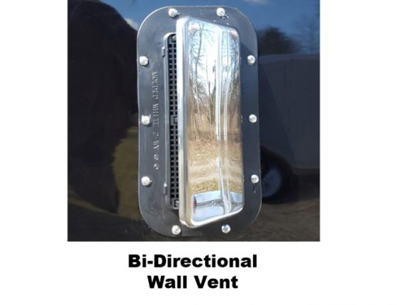 Bi directional wall vent in disaster relief trailer