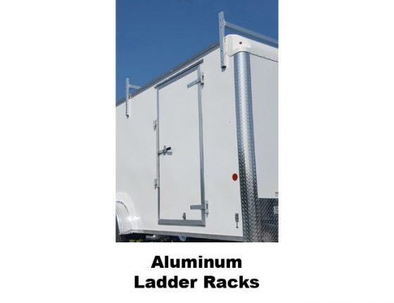 emergency response trailer with aluminum ladder racks