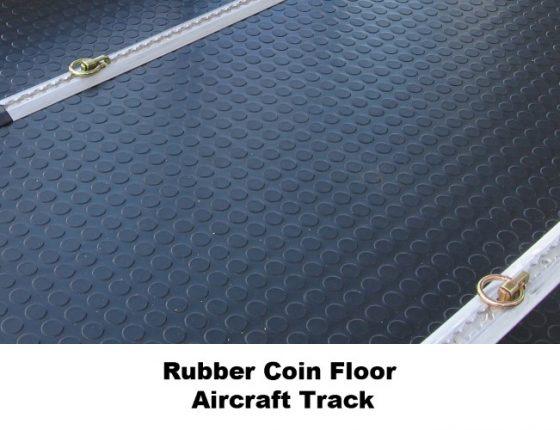 rubber coin floor in mobile medical trailer