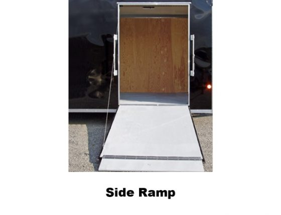 disaster relief trailer side ramp