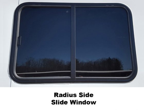 disaster response trailer with slide window