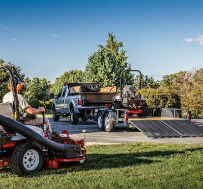 lawn mower trailer