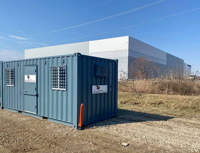 shipping container office accessories